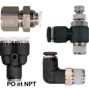 S40 | Raccords autobloquants en polymère TOPFIT (PO et NPT)