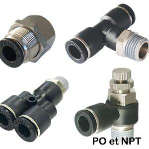 S44 | Raccords autobloquants en polymère MAXFIT (PO et NPT)